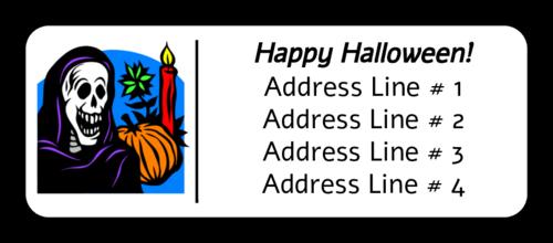 "OL875 - 2.625"" x 1"" - Halloween Skeleton2"