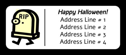 "OL875 - 2.625"" x 1"" - Halloween Tombstone"