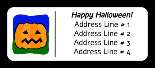 """OL875 - 2.625"""" x 1"""" - Halloween Jack O"""