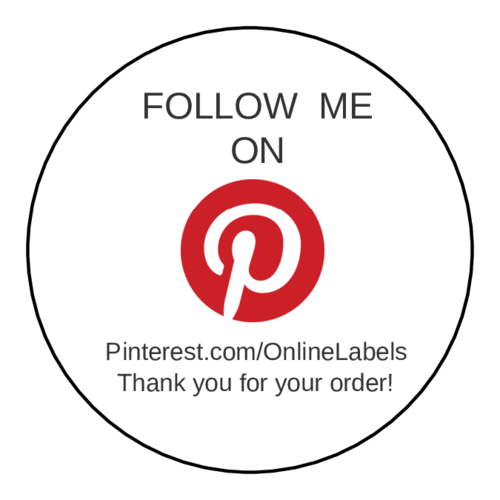 "OL5375 - 2"" Circle - Pinterest Thank You Shipping Label"
