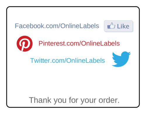 Social Media Thank You Label pre-designed label template for OL5051