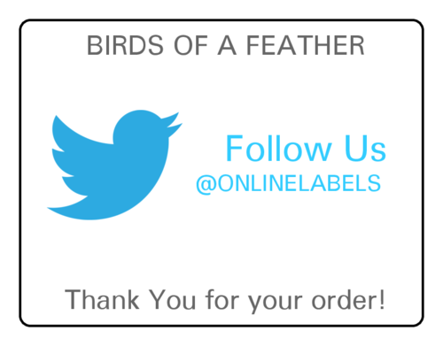 OL5051 - Twitter Thank You Shipping Label pre-designed label template for OL5051