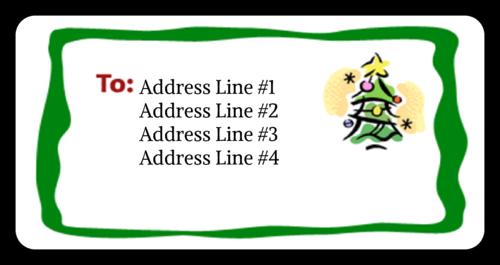 "OL125 - 4"" x 2"" - Christmas Tree"