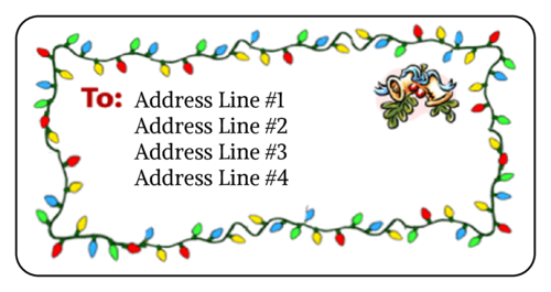 Christmas Mistletoe pre-designed label template for OL125