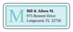 "OL875 - 2.625"" x 1"" - Chesapeake - Sky Wedding Address Label"