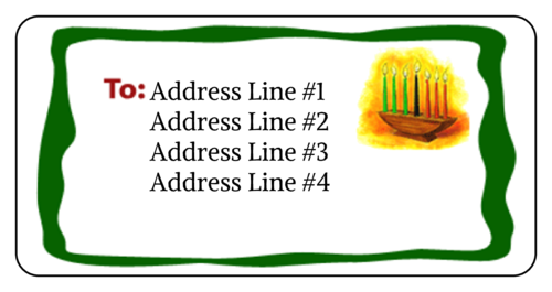 "OL125 - 4"" x 2"" - Kwanzaa Address Label"