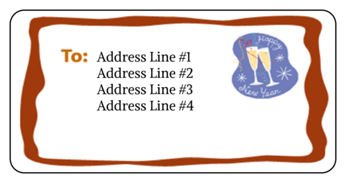 "OL125 - 4"" x 2"" - New Years Address Label"