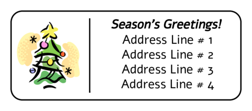 Christmas - Tree Address Label pre-designed label template for OL875