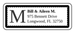 "OL875 - 2.625"" x 1"" - Chesapeake - Tuxedo Wedding Address Label"