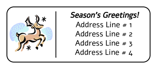 "OL875 - 2.625"" x 1"" - Reindeer Address Label"
