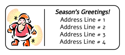 "OL875 - 2.625"" x 1"" - Santa Address Label"