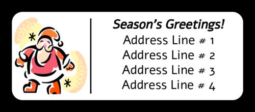 "OL875 - 2.625"" x 1"" - Santa Address Label"