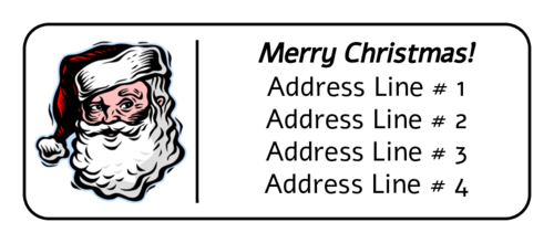 Santa Claus Address Label pre-designed label template for OL875