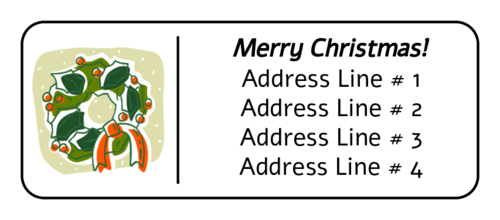 "OL875 - 2.625"" x 1"" - Wreath Address Label"