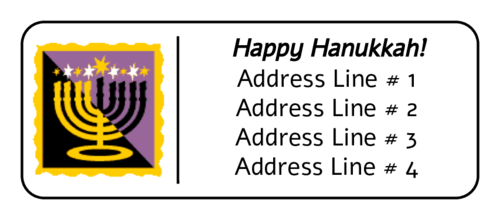 "OL875 - 2.625"" x 1"" - Menorah Address Label"