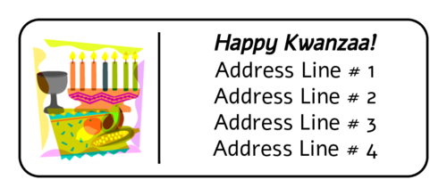 "OL875 - 2.625"" x 1"" - Kwanzaa Collage Address Label"