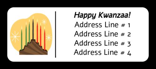"""OL875 - 2.625"""" x 1"""" - Kwanzaa Address Labels"""