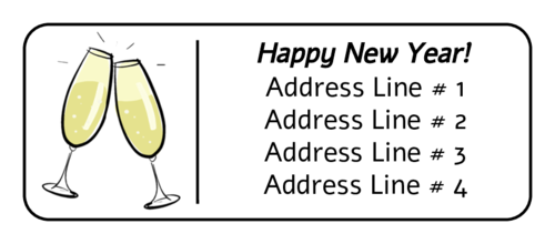 ol875 2625 x 1 new years champagne address label