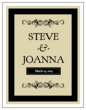 Black Wine Bottle Wedding Label