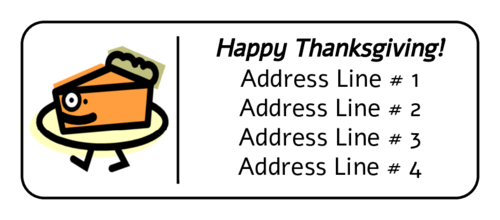 "OL875 - 2.625"" x 1"" - Thanksgiving Pie Address Label"