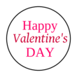 "OL6000 - 1.2"" Circle - Happy Valentines Day Printable Round Labels"