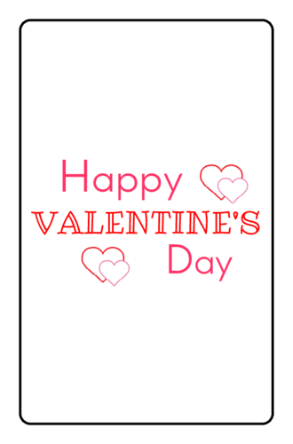 "OL800 - 2.5"" x 1.563"" - Happy Valentine's Day Chocolate Mini Candy Favor Labels"
