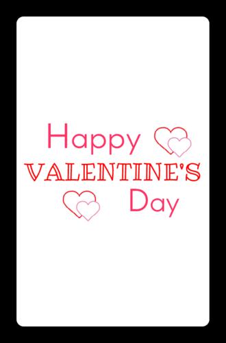 "OL800 - 2.5"" x 1.563"" - Happy Valentine"
