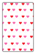 "OL800 - 2.5"" x 1.563"" - Hearts Candy Favor Printable for Hershey Mini Chocolate Bars"