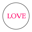 "OL6000 - 1.2"" Circle - Love Printable For Valentine"