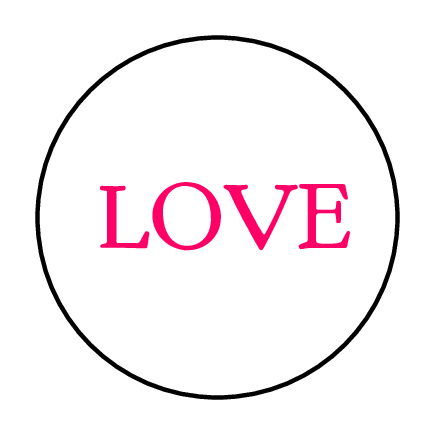 "OL6000 - 1.2"" Circle - Love Printable For Valentine's Day - 1.2"" Circle"