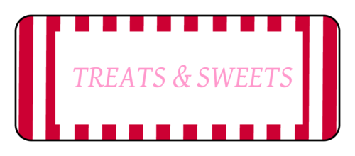 "OL875 - 2.625"" x 1"" - Treats & Sweets Valentines Day Labels"