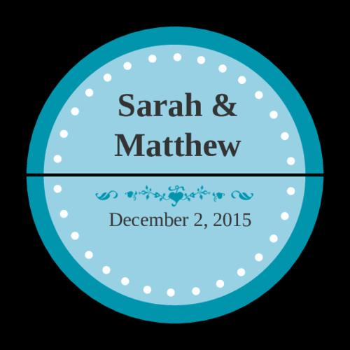 Colonial - Azure Wedding Envelope Seal Label pre-designed label template for OL158