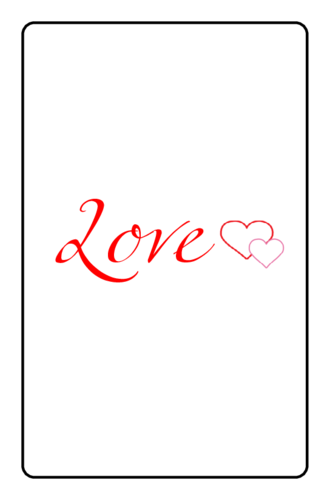 "OL800 - 2.5"" x 1.563"" - Love with Hearts Valentine's Day Printable Mini Candy Bar Favor Labels"