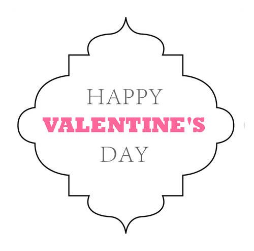 "OL1761 - 2.5"" x 2.5"" - Happy Valentines Day Decorative Label Printable"