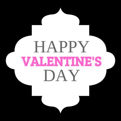 "OL1761 - 2.5"" x 2.5"" - Happy Valentines Day Decorative Label Printable"