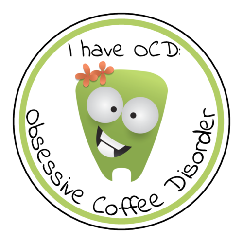 "OL5375 - 2"" Circle - OCD Obsessive Coffee Disorder Printable"