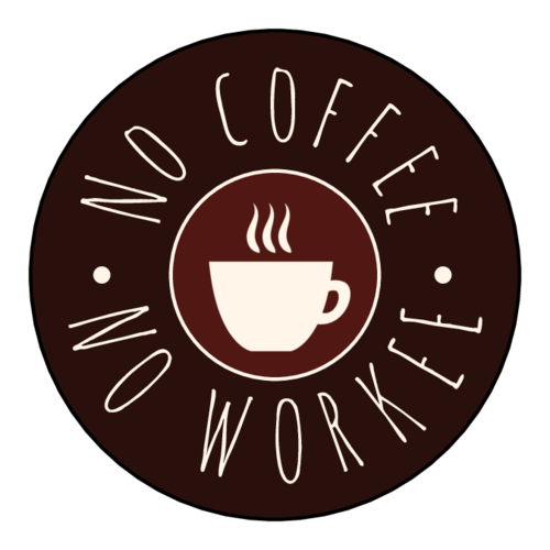 No Coffee No Workee - Funny Printable pre-designed label template for OL5375