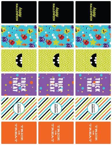 Halloween Monster Mash Mini Chocolate Bar Printable Labels - Label ...