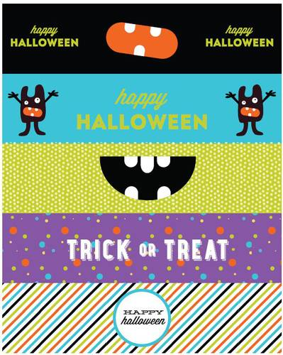"OL1159 - 8"" x 2"" - Halloween Themed Water Bottle Labels Printable"