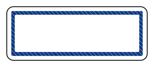 "OL875 - 2.625"" x 1"" - Blue Diagonal Stripes Address Label"