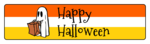 Happy Halloween Lollipop Stick Flag Labels