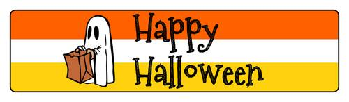 Happy Halloween Lollipop Stick Flag Labels