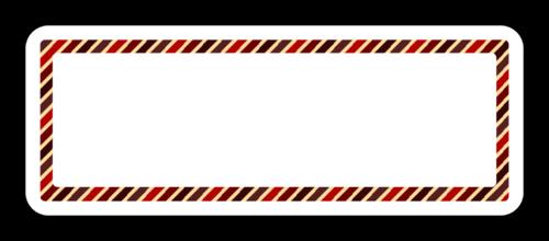 "OL875 - 2.625"" x 1"" - Crimson Diagonal Address Label"