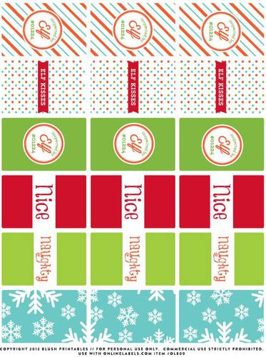 Mini Chocolate Candy Bar Christmas Printable