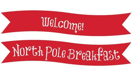 North Pole Christmas Welcome Banner Printable Label Templates