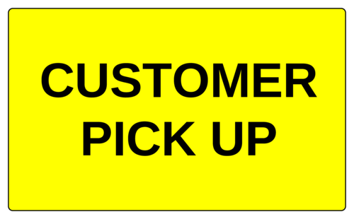 "OL6675 - 5"" x 3"" - Customer Pick Up Label"