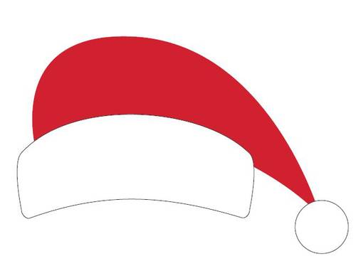 Santa Hat Printable Christmas Photo Booth Prop - Label Templates ...