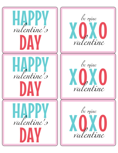 "OL150 - 4"" x 3.33"" - Happy Valentine's Day Wine Labels Printable"