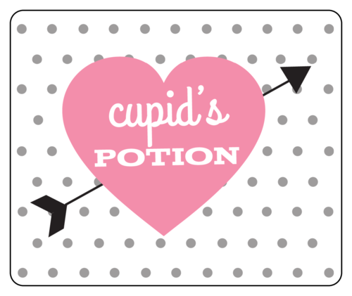 cupids potion free printable wine labels for valentines day label templates ol150 onlinelabelscom - Valentine Templates Printable