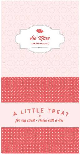 Cute Valentine's Candy Bar Wrapper Label Printables pre-designed label template for OL685